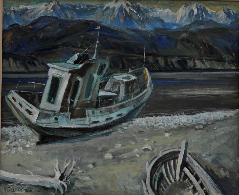В.М.Зарослов. Байкальский берег. 2005 г. Холст, масло. 50х61 см.