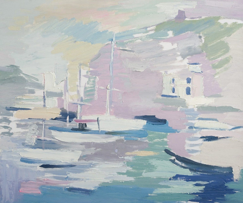 Д.Г.Новиков. Балаклава. Пристань. 2010. 75х90 см., холст, масло.