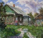 Д.Г.Пак. Деревенский дворик. 2016. 60х70 см.