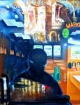 Ф.И.Куницын. Дождь на Павелецком. 2013. 75х96 см. Холст, масло.