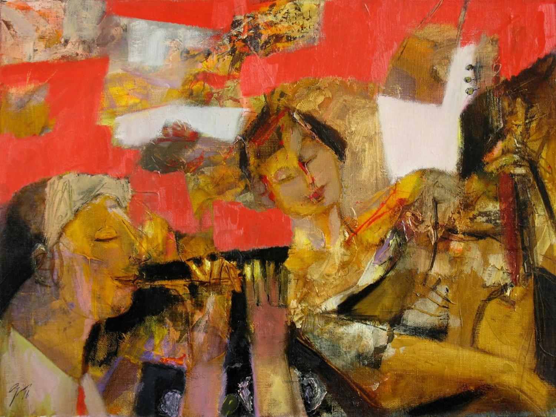 А.Л.Аранышев. Дуэт. 2016 г. 45х60 см. Холст, акрил, масло.