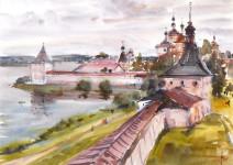 В.А. Епифанов. Кирилло-Белозерский монастырь. 2004. 50х70. Бумага, акварель