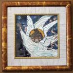 Е.Н.Евдокимова. Ангел парящий. Медь, эмаль. 17х17 см.