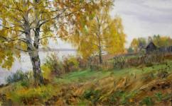 А.В. Городничев. Осень на Волге. 2004. Холст, масло. 50х80.