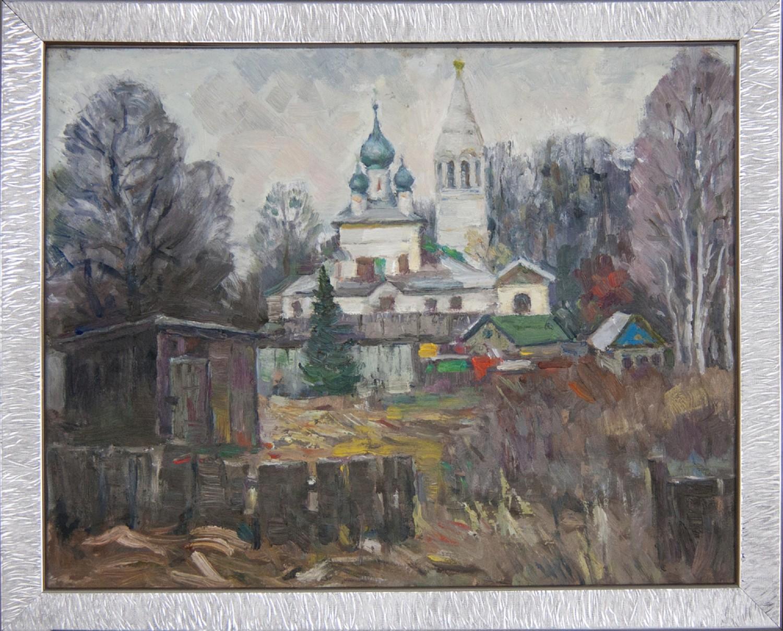 Б.Гогин. Некрасовское. Церковь Утоли моя печали. 40х50. картон, масло