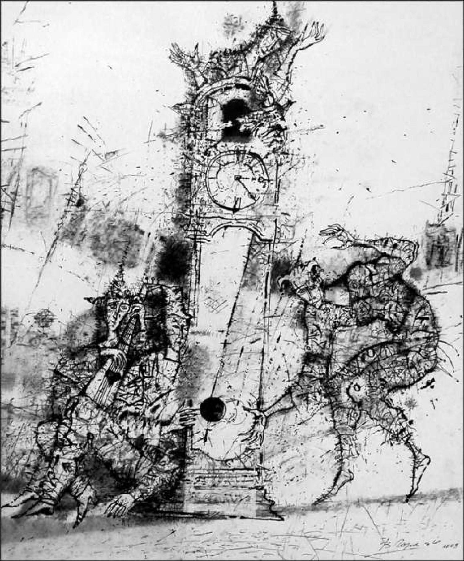 В.С. Горячев. Часы с кукушкой. 2009.