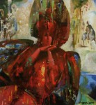 М.В.Гурин. Жар-птица. 1998 г. Х.м., 80х60 см.