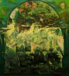 М.В.Гурин. Рассвет в Павловске. 2008 г. Х.м, 110х100 см.