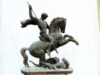 Г.Г.Алексанян. Георгий Победоносец. 2003. Гипс. 43х12х38 см.