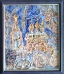 В.Я.Голубкова. Церковь Николы. 2016 г. Горячая эмаль, медь. 30х25