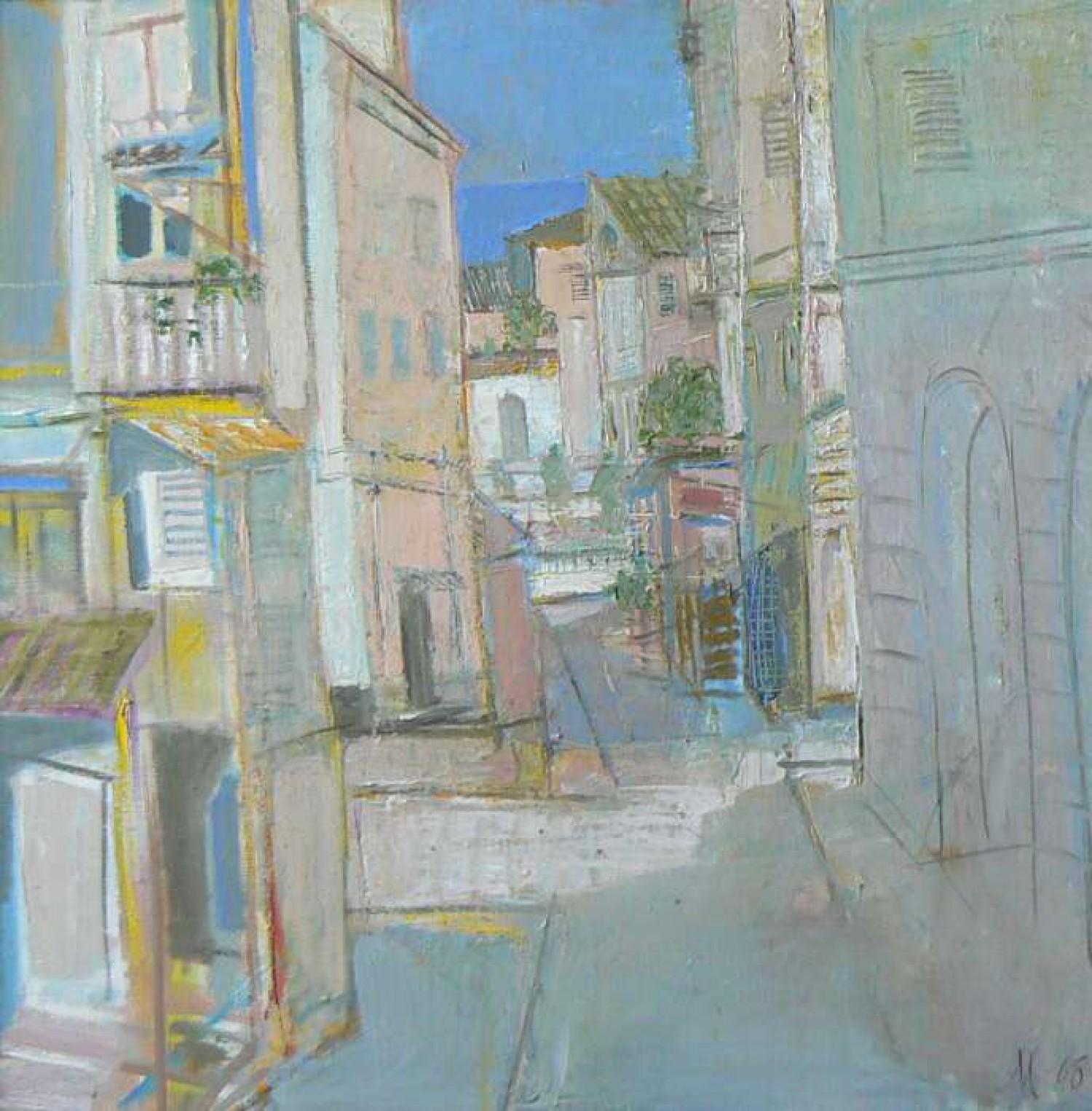 Л.А.Малафеевский. Город у моря I . 2008. Холст, масло. 90х90.