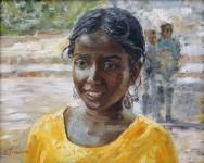 Е.А.Гущина. Индийская девочка.