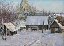 Е.А.Гущина. Зима в деревне