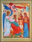 Н.Н.Лаврова. Евангелист Лука. Икона.
