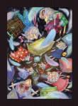 """Н.Д.Болотцева. Илл. к сказке О. Растегаевой """"8 волшебных овечек"""". Бум., акварель, цв.карандаш.  41,3х29.3 см. 2013 г."""