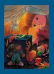 """Н.Д.Болотцева. Иллюстрация к сказке О. Растегаевой """"Отпуск Берта"""". Бумага, акварель, цв.карандаш. 41,3х29,3 см. 2014 г."""