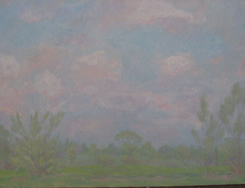 В.С.Токмаков. Весенние облака. 1985. 69х50. Картон, масло.
