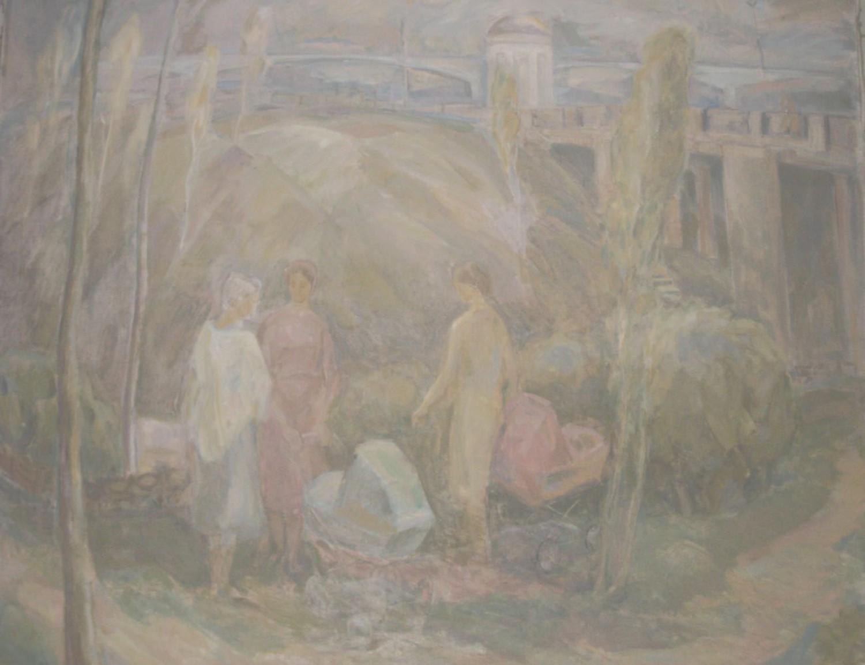 В.С.Токмаков. Весна. 1988. 150х150. Холст, масло.