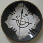 Е.В.Смирнов. Декоративная тарелка Глобальное потепление. 2002. d-48 см. Керамика, белая эмаль, цв.глазурь