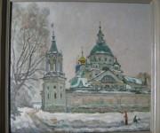 Е.В.Леонов. Спасо-Яковлевский монастырь. 2004. 62х74. Картон, масло.