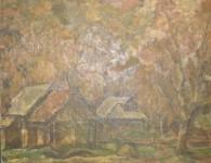 В.С.Токмаков. Осенний листопад. 1983. 100х72. Картон, темпера, масло.