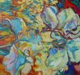 О.Г.Рожков. Цветущий сад. Ирисы. 2006 г. 90Х75.