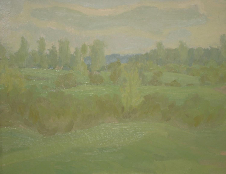 В.С.Токмаков. Первая зелень. 1978. 60х50. Холст, масло.