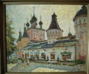Улица в Борисоглебе. 2003. 60х72. Картон, масло.