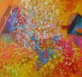 О.Г.Рожков. Цветущая яблоня. 2007 г. 75Х90.