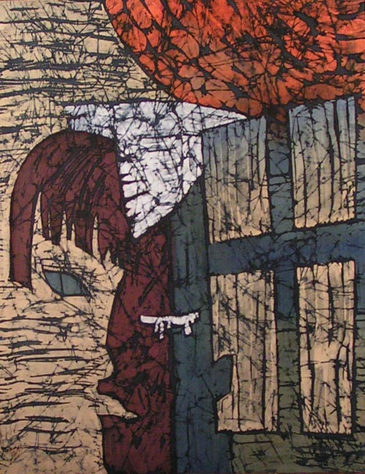 И.Н.Флоринская. Избранные. 2007 г. 70х60. нат. шёлк, гор. батик.