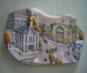 Н.М.Павлова. Площадь им.Ф.Волкова (рельеф). 32,5х50,0
