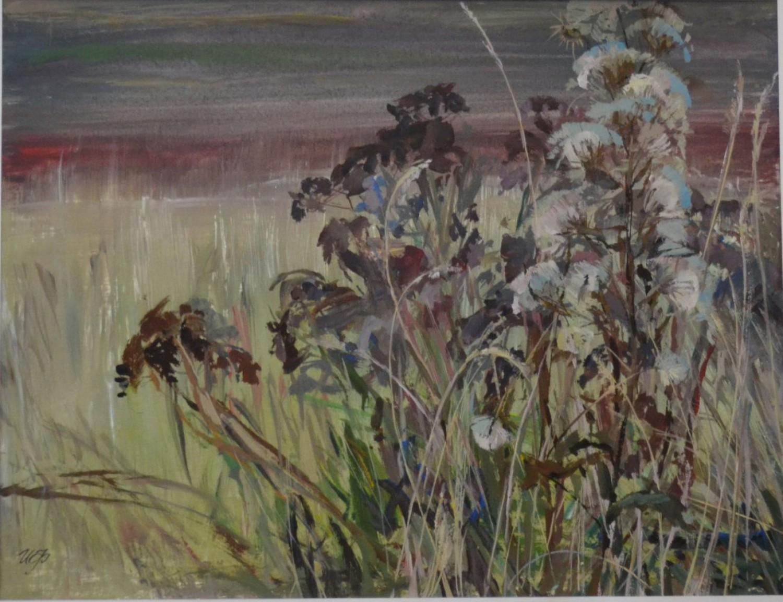 И.Н.Флоринская. Дымчатая осень. 2010 г. 35х47. б. акв. темп.