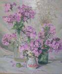 В.С.Токмаков. Флоксы. 2006. 56х50. Картон, масло.