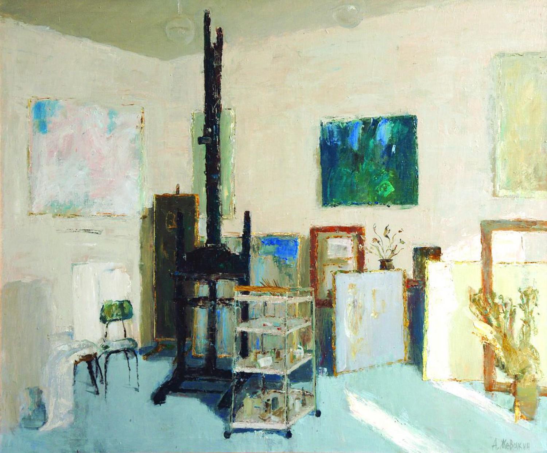 А.Н.Жевакин. Интерьер мастерской. 2009. 100х120 см. Холст, масло.