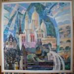 В.Максимова. Коллаж 1, текстильный коллаж.