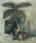 М.Н. Кораблёв. Натюрморт с большим цветком. 1996. 49х40. Бумага, смеш. тех.