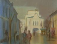 Л.Б. Ковалевская. Знаменская башня. 2005 г. Бум., пастель. 41х53.