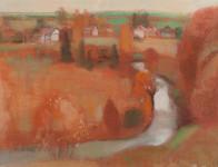 Л.Б. Ковалевская. Оранжевая осень. 2008 г. Бум., пастель. 47х62.