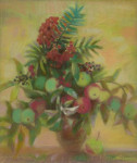 Л.Б. Ковалевская. Осенний букет. 2006 г. Бум., пастель. 45х42.