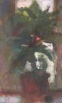 М.Н. Кораблёв. Цветок в оконном проёме. 2004. 45х28. Бумага, акварель, гуашь.