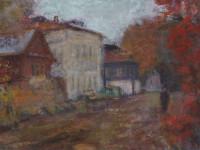 М.Н. Кораблёв. Осень. 2011. Картон, пастель, гуашь. 32х46 см.