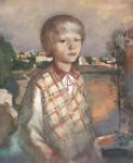 М.Н. Кораблёв. Провинциальный портрет. 1999. 38х46. Бумага, смеш. тех.
