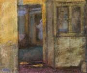 Кораблёв М.Н. Интерьер старого дома. 2017. Бумага, смешанная техника. 34х44.