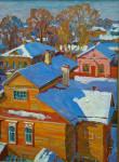 А.В. Корзин. Снег в сентябре. 1970. Холст, масло. 60×65.