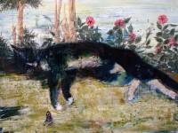 А.Н.Сериков. Кошка. 60х80 см. холст, масло, темпера.