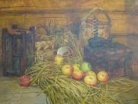 В.Н.Константинов. Бабушкины яблоки. 2016. Холст, масло. 80х60 см.