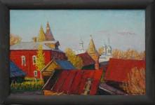 В.К.Золотайкин. Красные крыши. 2005.
