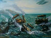 А.И. Кравцов. Морской бой. 2008. Холст, масло. 70х100 см.
