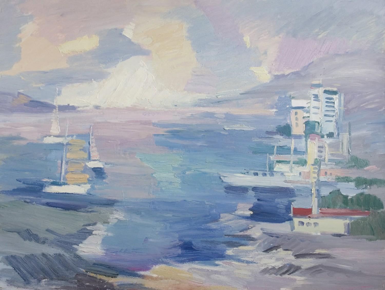 Д.Г.Новиков. Крымский мотив. 2010. 90х120 см.. Холст, масло.