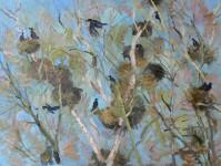 В.Литвинов. Весенний переполох. Х.м, 60х80. 2012